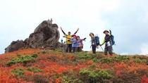 【三ツ石馬蹄縦走】山景は日ごとにその色を変え、様々な景色で私たちを楽しませてくれます。