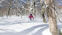 【下倉スキー場】全14コースものコースが設備されており、自分に合ったスキーを楽しむことができます。