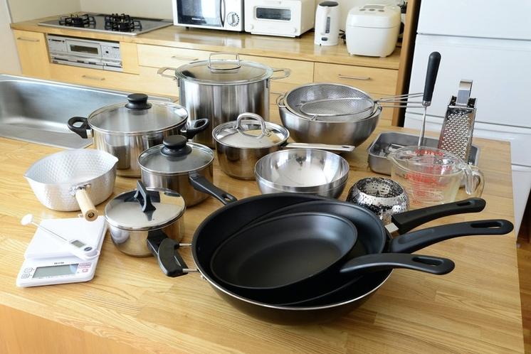 調理道具は豊富にとりそろえています。