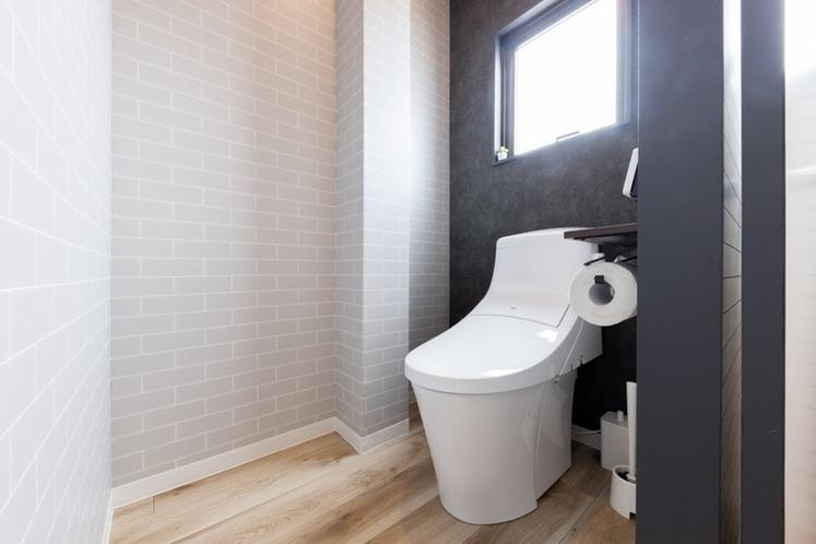 トイレもデザイナー仕様です