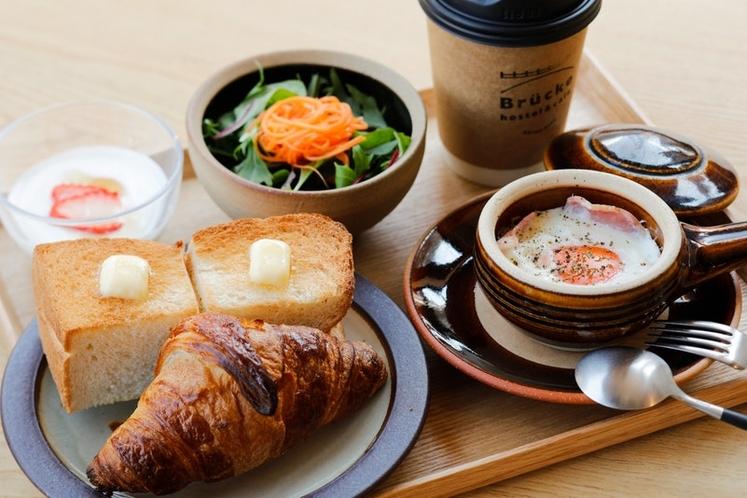 姉妹店Brückeまで徒歩7分 写真の朝食\1000