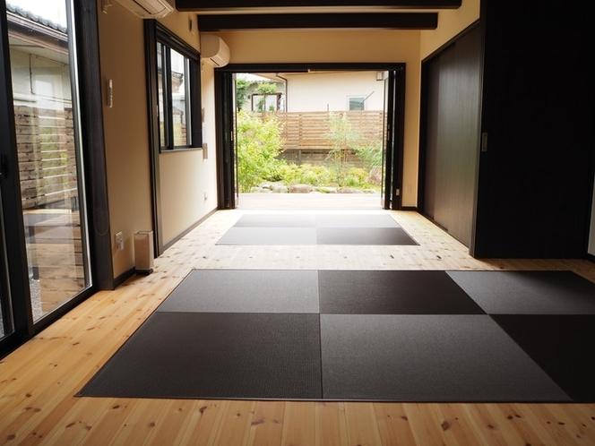 広々としたワンルームの様に使える琉球畳のおしゃれな4.5畳&6畳の和室