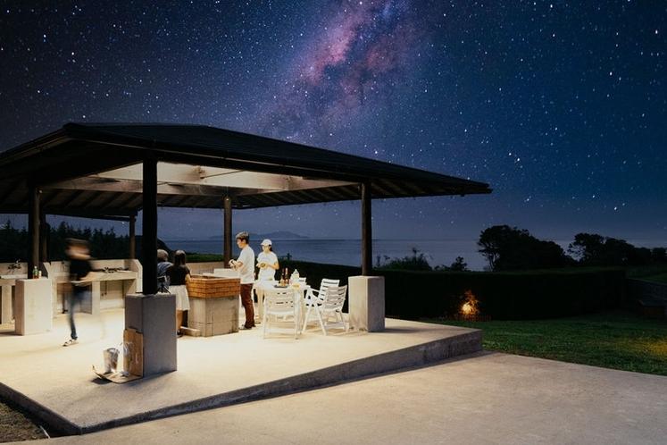 星空を眺めるロケーション