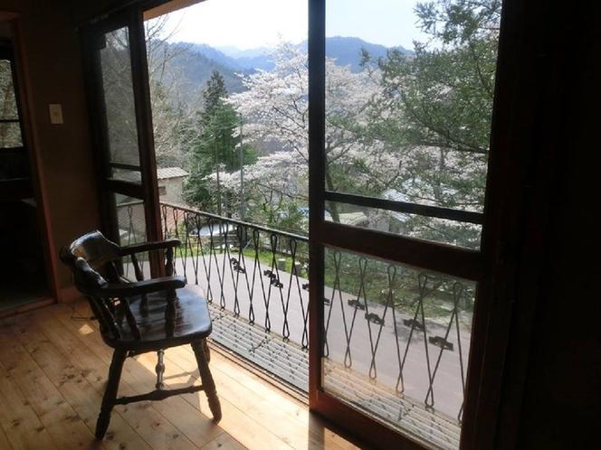 2階の部屋からの景色
