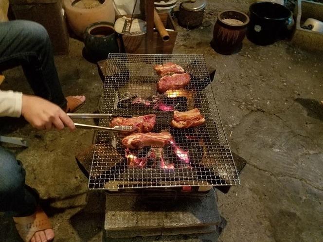 七輪で炭火焼(雨天OK)