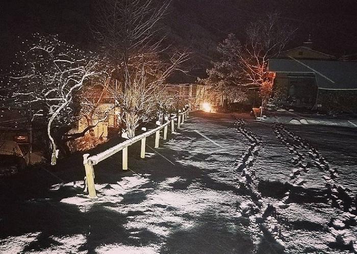 駐車場 雪景色