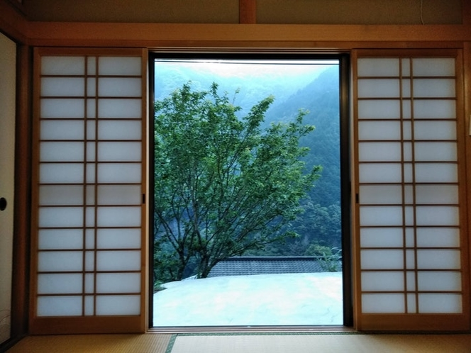 和室からの景色。
