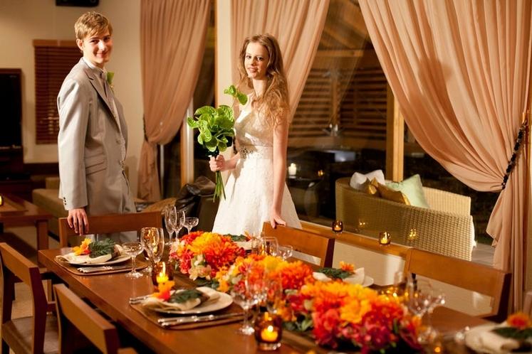 隣接の結婚式場でフォトウェディングも可能