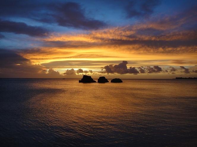アラハビーチ 夕日