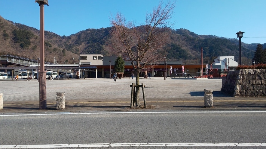 駅前風景 ハウスは、この駅の裏です。