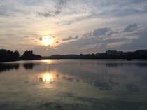 千波湖(夕暮れ)