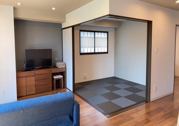 琉球畳の空間は間仕切りで個室にできます