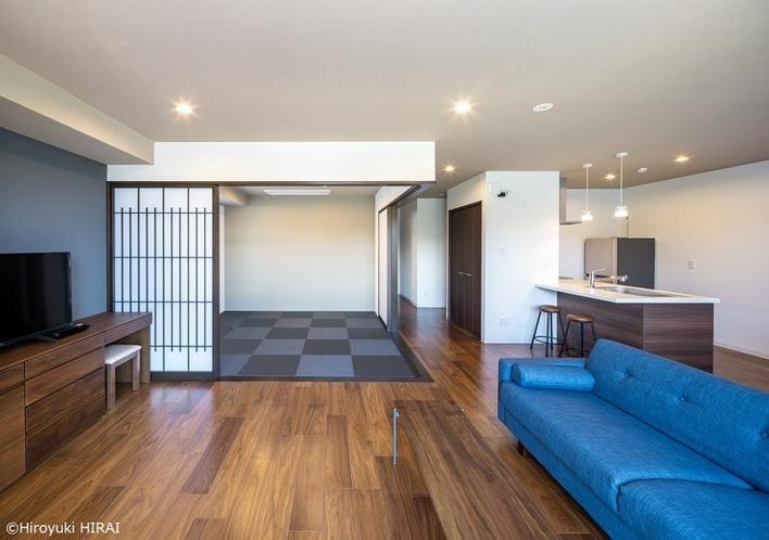 おしゃれな琉球畳は間仕切りもございます