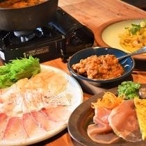 冬のおすすめディナー(房総魚介を使った洋風しゃぶしゃぶ)【1泊2食付:魚料理】