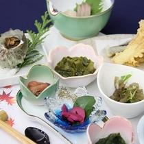 【夕食】佐渡産食材を使用した個食イメージ