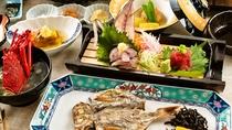 【ご朝食】伊豆らしさを味わっていただくお料理を添えて、地元の新鮮なお野菜をお召し上がり下さい。