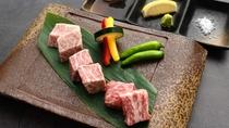 牛肉3種類の食べ比べ~溶岩焼き~:【豆州の贅】選べるメイン料理 【特別膳】選べるメイン料理