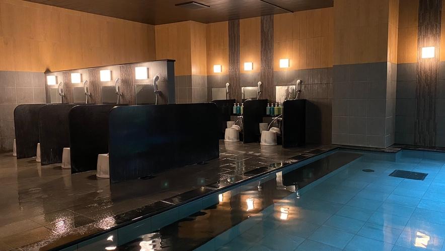 大浴場(男性) カランは11個ございます