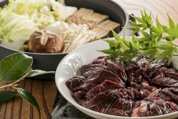 【古民家貸切】鹿肉のすき焼きプラン