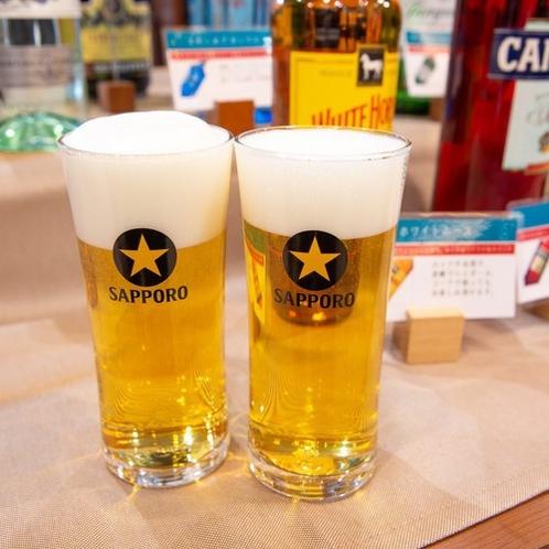 無料ハッピーアワー☆生ビールもあります!(ご利用時間/18:00~20:00)