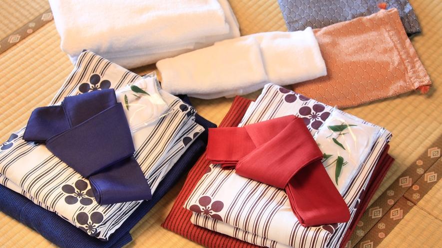 客室備品:浴衣、ハンドタオル、バスタオル