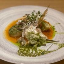 【魚料理】氷見産鯛のポワレ