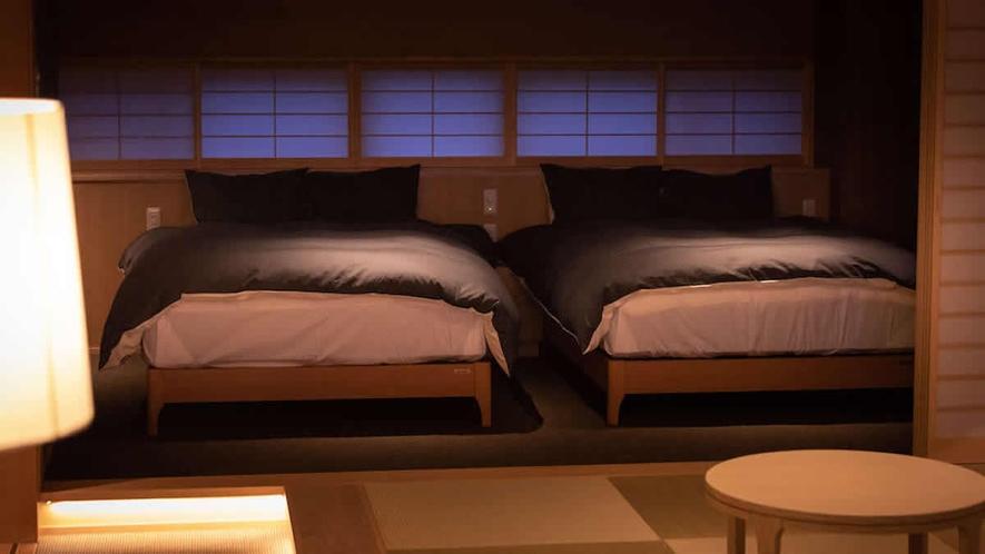 ■スイート 140cm幅のベッド