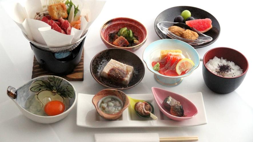 ・季節の食材を使った和食中心のメニューです