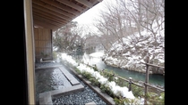 露天風呂(冬)