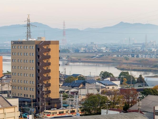 加古川のほとり