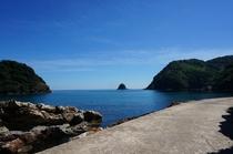 海沿いの散歩道