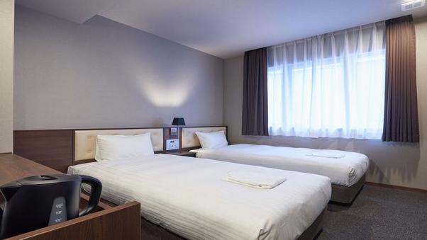 【禁煙】ツインルーム〜高品質なベッドで心地よい眠りを〜
