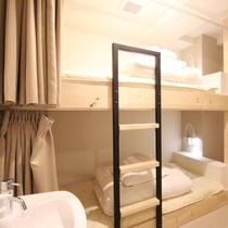 ■2段ベッド型ツインルーム(シャワー・トイレ共用)