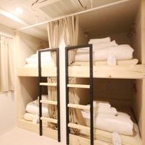 ■相部屋ドミトリールーム一例(シャワー・トイレ共用)/1室をシェアしていただく相部屋タイプのお部屋