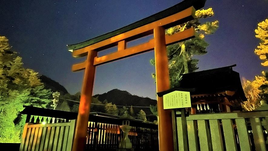 《夜の宮島》 清盛神社