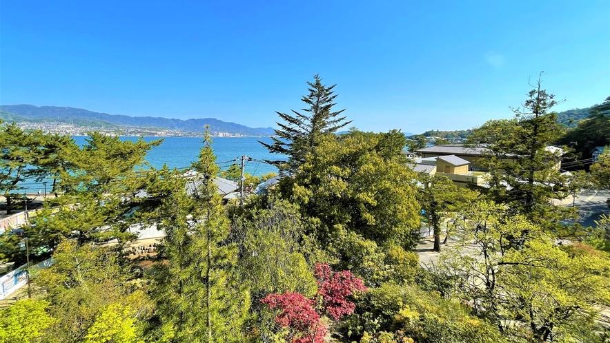 《客室》宮島水族館側の眺望