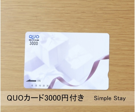 【素泊まり】使い方いろいろ♪QUOカード3,000円付きプラン