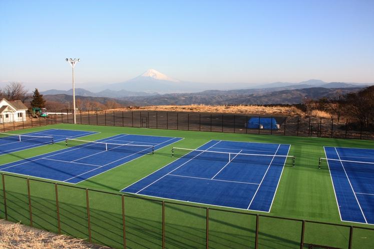 テニスコート昼