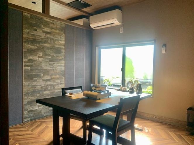 【感染症対策】個室食事処にはそれぞれ窓と換気扇を設置