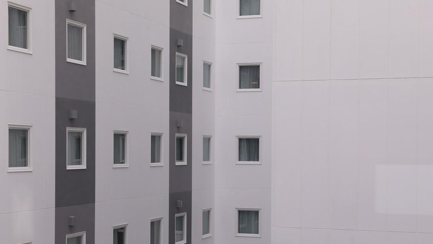 「眺望なし」客室からの眺め一例