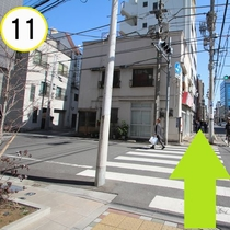 JR上野駅入谷口からの道順案内⑪