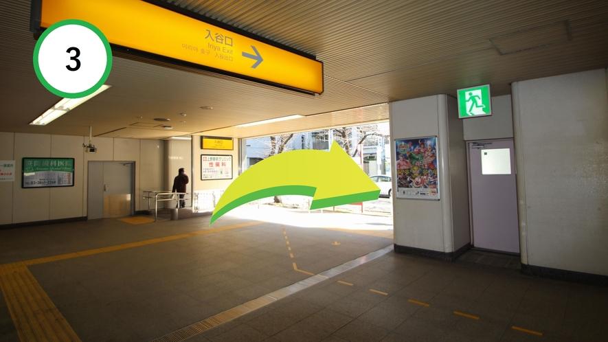 【道案内】JR上野駅入谷口から③
