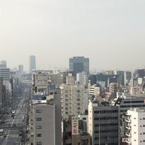 浅草方面から上野方面を望む遠景