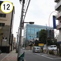 JR上野駅入谷口からの道順案内⑫