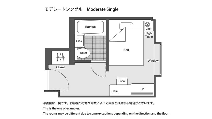 モデレートシングル 平面図 ※一例