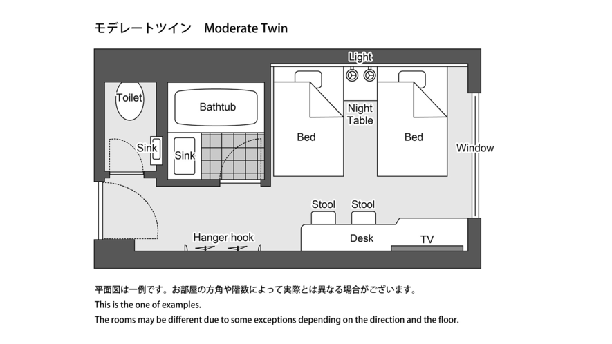 モデレートツイン 平面図 ※一例