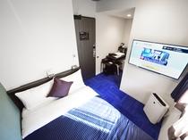 ◆シングルルーム◆全室セミダブルベッドを使用☆禁煙・喫煙ルームがございます。