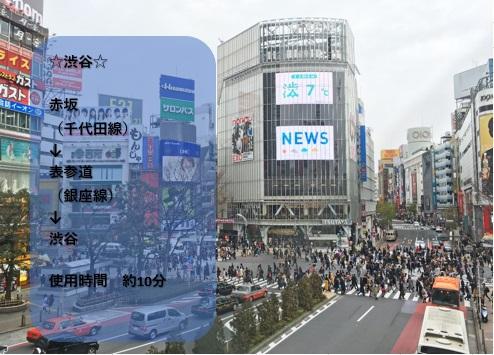 ◆当ホテルから渋谷◆