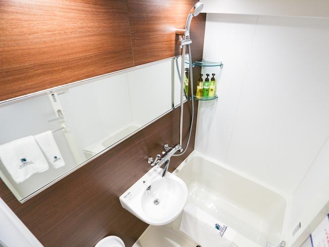 ◆バスルーム(ユニットタイプ)◆デラックスシングルルームのバスルームです