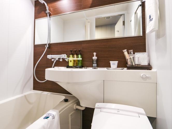 ◆バスルーム(ユニットタイプ)◆シングルルームのバスルームです